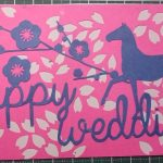 【図案作成】切り絵で結婚式のメッセージカード作りました